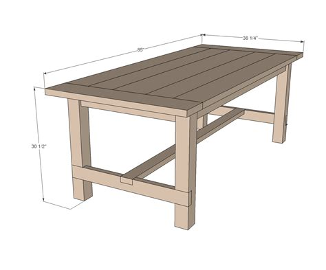 Outdoor Patio Table Plans Outdoor Dining Table Plans