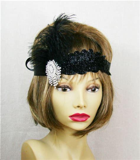 flapper headpiece diy black gatsby headband crystal gatsby headpiece gatsby