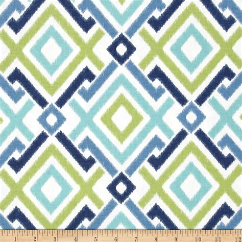 Navy And Green Curtains Designs Swavelle Mill Creek Jacq Diamonds Lagoon Discount Designer Fabric Fabric