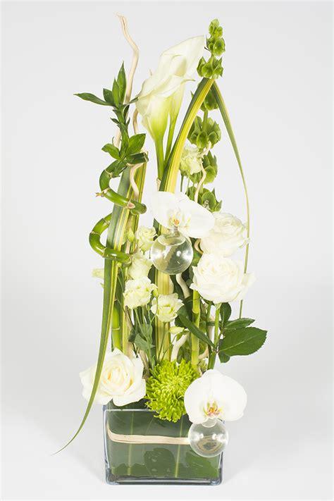 Fleur Verte Et Blanche by Composition Florale Hauteur Verte Et Blanche Signature