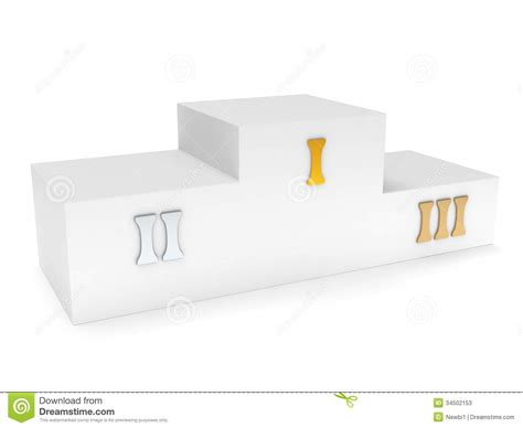 Place Original 3 sports winner podium isolated on white 3d render stock photos image 34502153