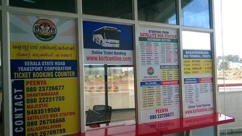 kerala rtc peenya reservation counter5 aanavandi travel