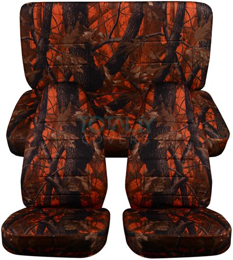 Orange Jeep Seat Covers Jeep Wrangler Yj Tj Jk 1987 2017 Camo Seat Covers Front