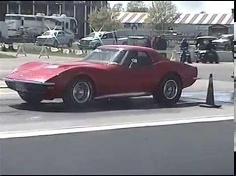 Corvette Drag Racing by Factory Appearing 71 1971 C3 Corvette Drag Racing Runs
