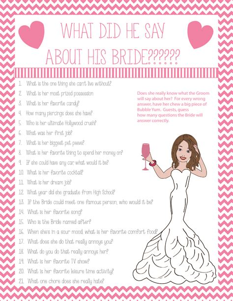 Questions About Groom For Bridal Shower by What Did The Groom Say About The Bridal Wedding