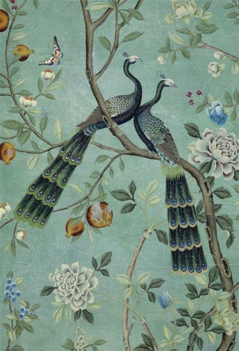 ideas  chinoiserie wallpaper  pinterest