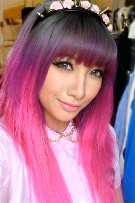 pink and purple ombre purple pink ombre hair color ideas pinterest