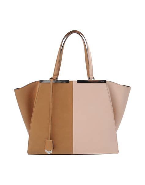 Fendi Brown Tweed Handbag by Fendi Handbag In Brown Lyst