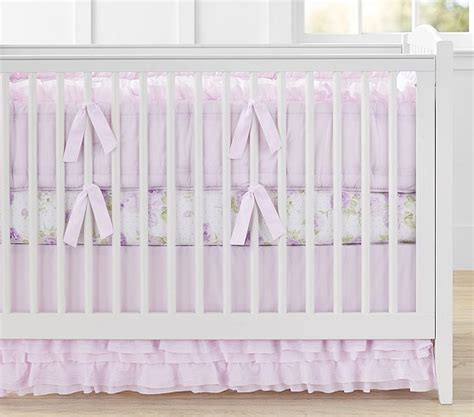 organic nursery bedding sets organic ruffle baby bedding sets pottery barn
