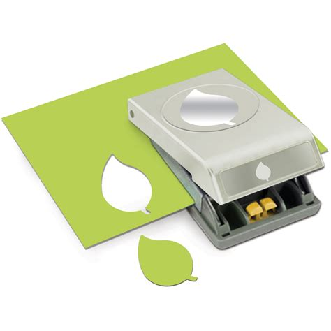 Large Paper Punches For Card - paper punch large green leaf