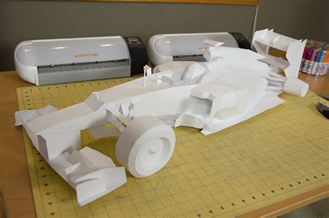 How To Make A F1 Car Out Of Paper - f1 papercraft racer visualspicer