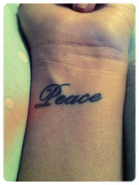 peace tattoo left wrist mom s going to freak pinterest