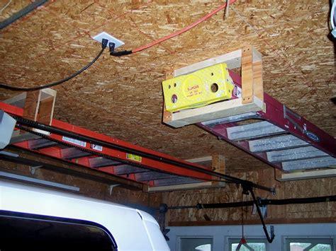 Ladder Storage In Garage by Ladder Storage By Beginner1 Lumberjocks