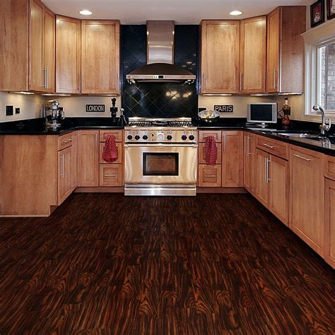 dark brown wooden allure vinyl plank flooring matched with