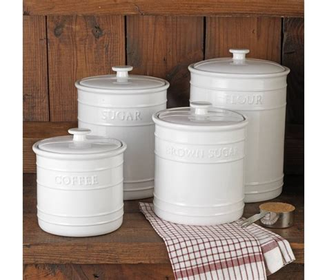 white kitchen canister sets ceramic ceramic kitchen canisters canada reversadermcream com