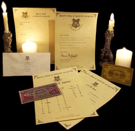 Harry Potter Acceptance Letter Gift Uk Harry Potter Personalised Gift Set Hogwarts Acceptance Letter Express Ticket Ebay