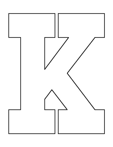 printable k template letter k pattern use the printable outline for crafts
