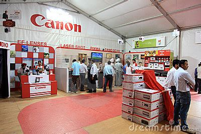 canon products canon products exhibition editorial stock photo image