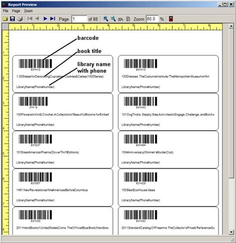 barcode label template small library organizer pro library software barcode