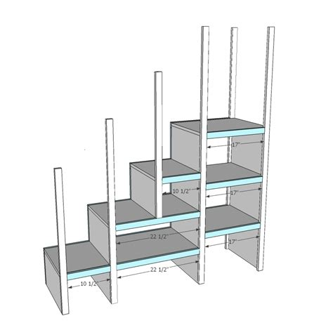 Bunk Bed Plans With Stairs White Sweet Pea Garden Bunk Bed Storage Stairs Diy Projects