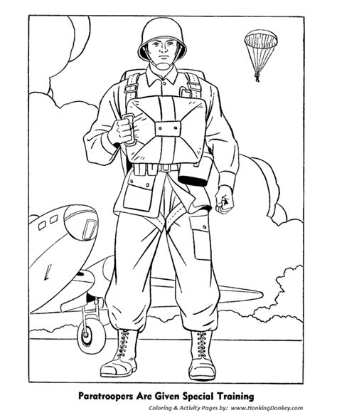 veterans day coloring pages world war 2 paratroopers