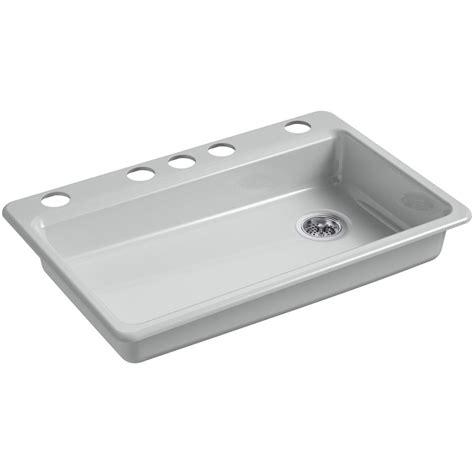 Throw The Kitchen Sink Kohler Dickinson Undermount Farmhouse Apron Front Cast Iron 33 In 4 Single Bowl Kitchen