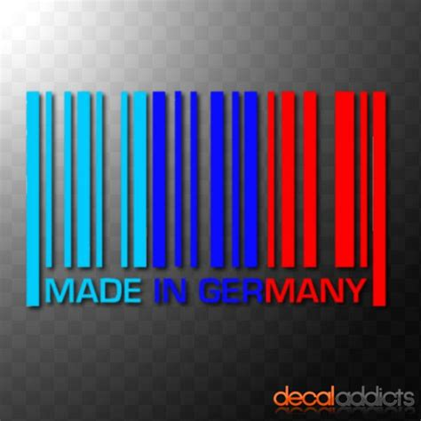 Diskon Stiker Mobil You Can Go Fast Sticker Cutting Kaca details about made in germany vinyl barcode car decal sticker in bmw m sport colours msport