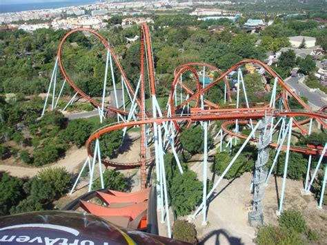 theme park portaventura portaventura dragon khan