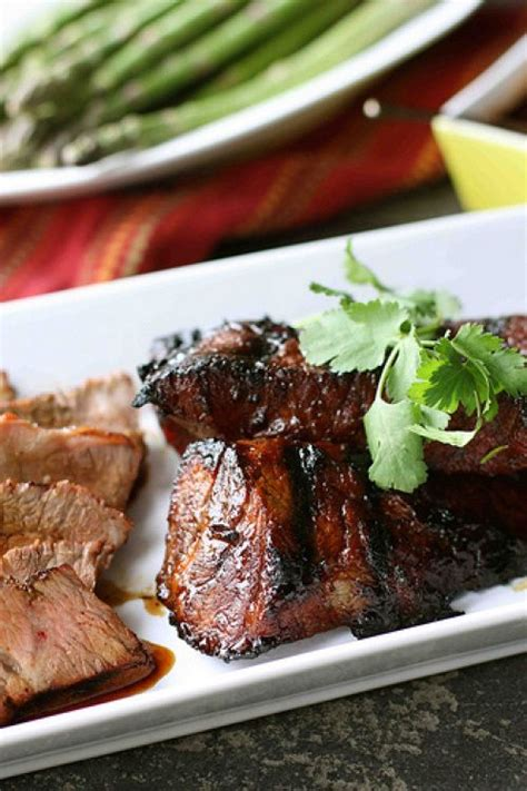 grilled tri tip steak with molasses chili marinade recipe