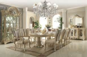 Traditional Dining Room Furniture by Homey Design Off White 12 Pc Traditional Dining Room Set