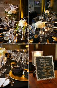 black and gold centerpieces black and gold wedding centerpieces
