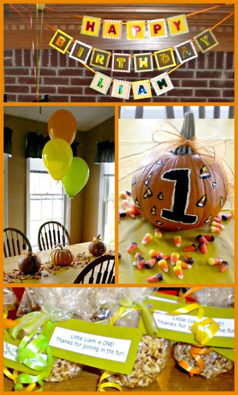 october themed events pumpkin themed first birthday party kids birthday