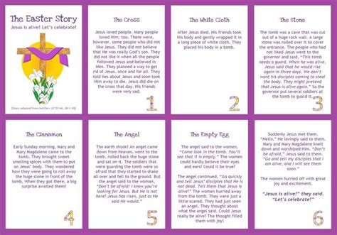 printable children s version of the easter story interactive easter story booklet printable