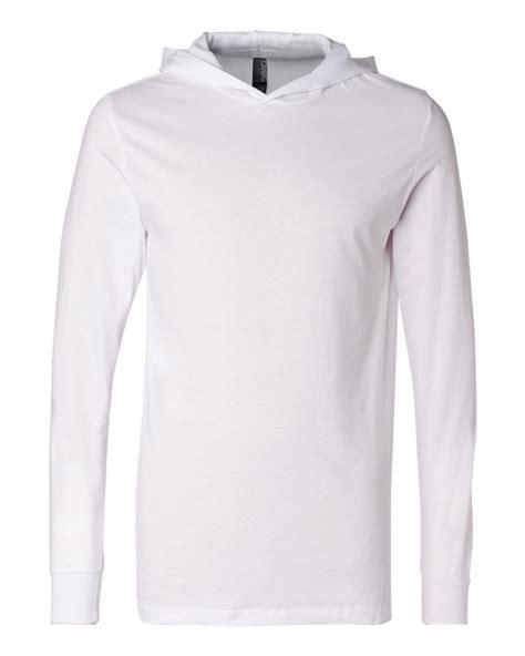 sleeve hooded shirt canvas unisex sleeve jersey hooded t shirt