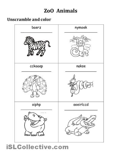 printable zoo animals worksheets 12 best images of zoo animal matching worksheet zoo