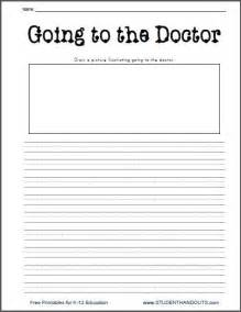 going to the doctor free printable k 2 writing prompt