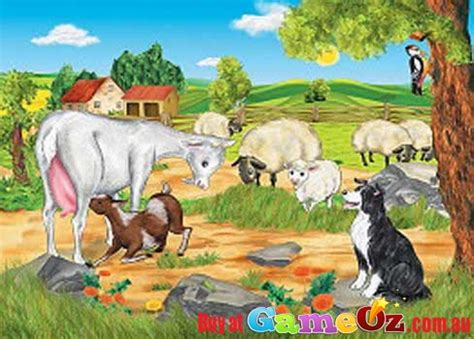 farm animals jumbo childrens jigsaw puzzle 35pc