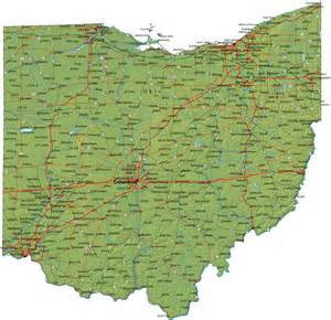 Ohio Map Cities by Detailed Ohio Map Oh Terrain Map
