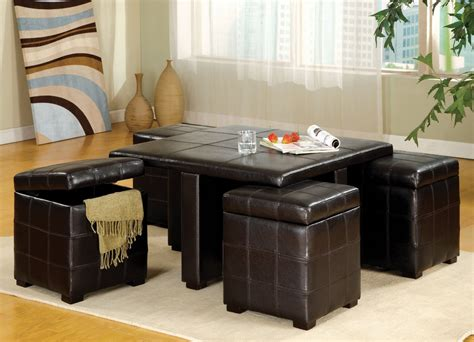 Coffee Table With Ottoman Seating Get A Compact And Multi Functional Living Room Space By Decorating A Coffee Table With Ottoman