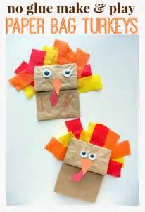 Thanksgiving Art Preschool No Glue Turkey Craft For Thanksgiving No Time For