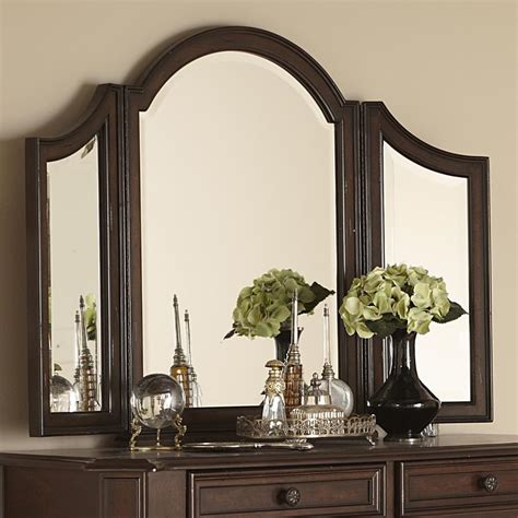 liberty furniture arbor place tri fold vanity mirror
