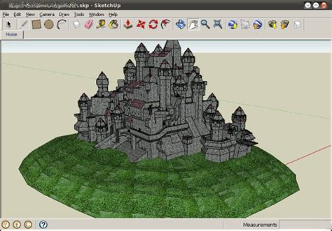 Google Sketchup Castle Tutorial | google sketchup thinking in 3d
