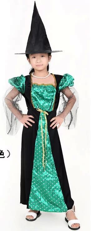 Hh 920592couple Costume Black aliexpress buy free shipping children green witch dress costume with