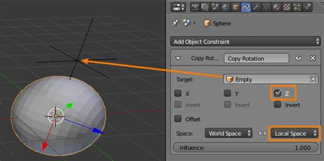 blender 3d array empty plain axes rotation by animation rotate a sphere diagonally both around x and