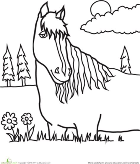 educational horse coloring pages horse coloring pages printables education com