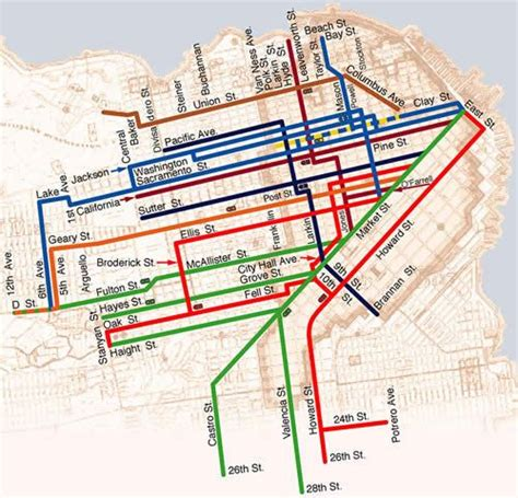 cable car san francisco map san francisco cable car map san francisco cable car