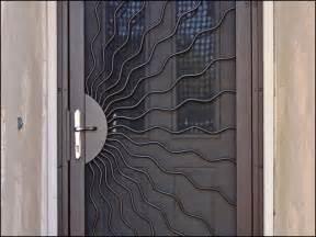 unique home designs security screen door