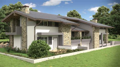 casa bifamiliare rendering architettonico fotorealistico villa bifamiliare