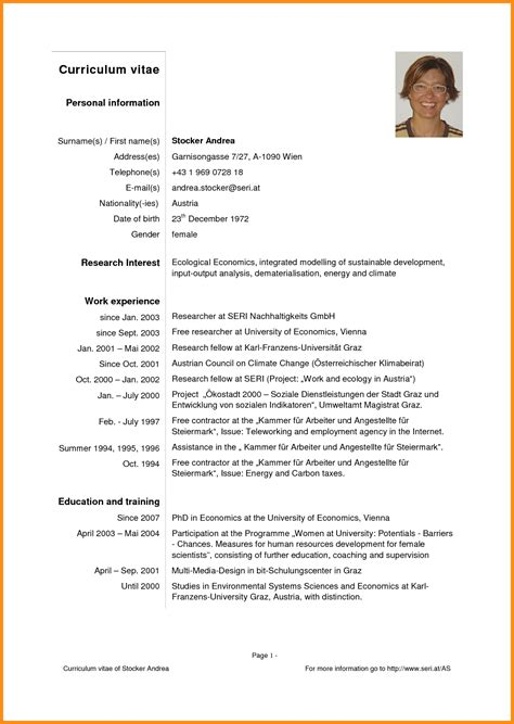 Resume Template In Pdf Format 8 best curriculum vitae format pdf musicre sumed