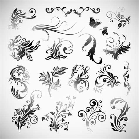 pola batik hitam dan putih pola vektor vektor gratis gratis